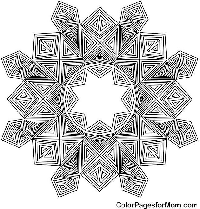Mandala 46 Advanced Coloring Page