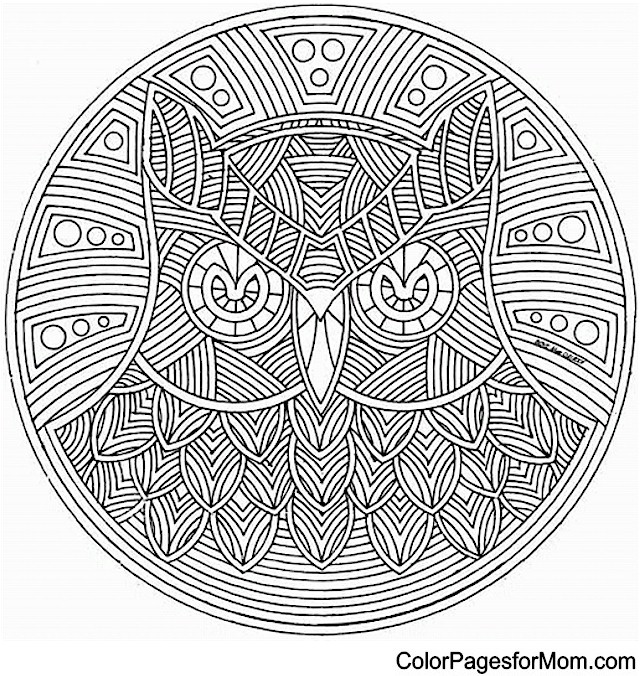 Mandala 5 Advanced Coloring Pages Mandala Coloring Pages For