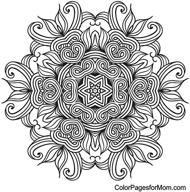 mandala 9 advanced coloring page. Black Bedroom Furniture Sets. Home Design Ideas
