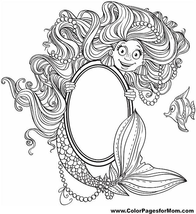 mermaid coloring page 21