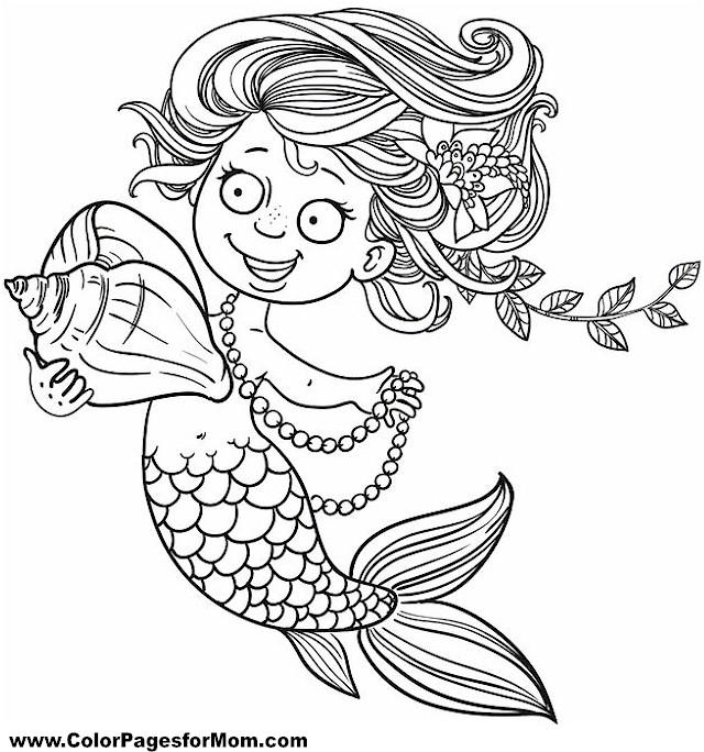 Mermaid Coloring Page 24