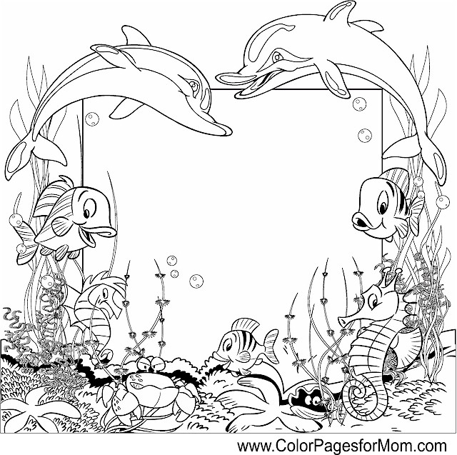ocean seascape coloring pages - photo #17