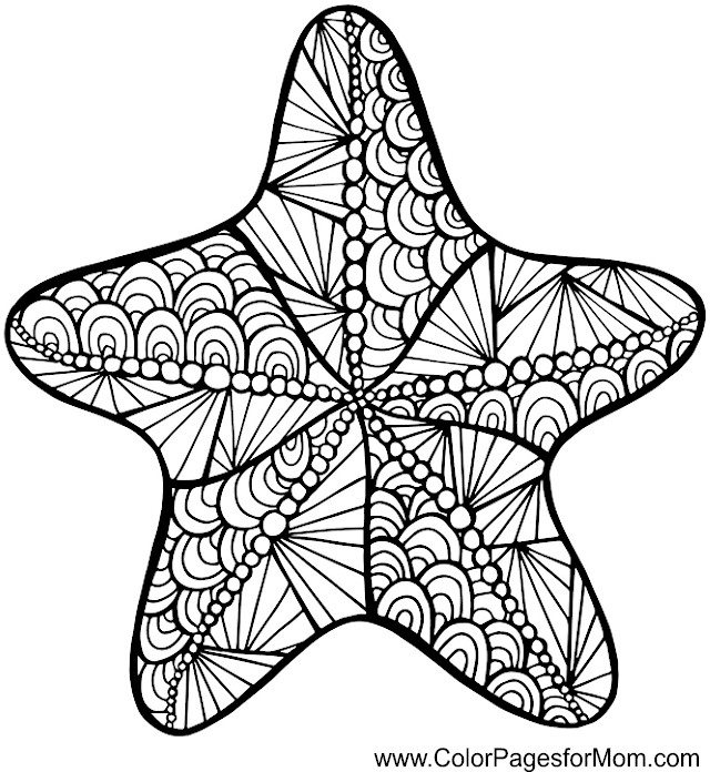 Adult Coloring Pages Sea Star Coloring Pages