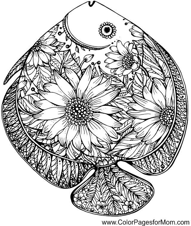 sea animal adult coloring coloring pages. Black Bedroom Furniture Sets. Home Design Ideas