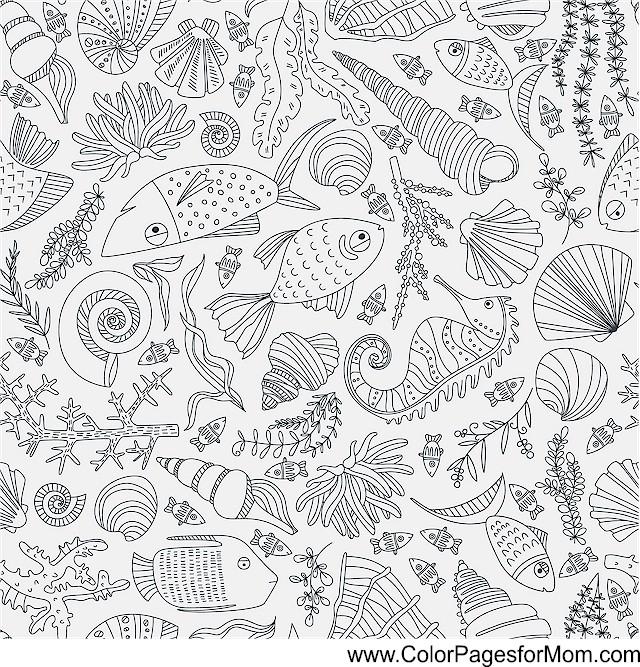 ocean seascape coloring pages - photo #30
