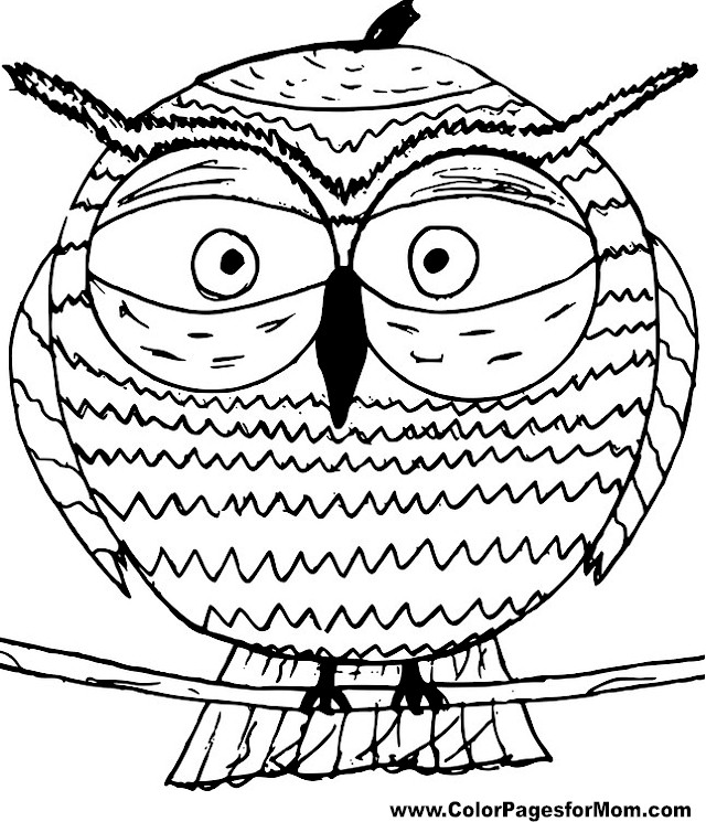 Owl Coloring Page 12
