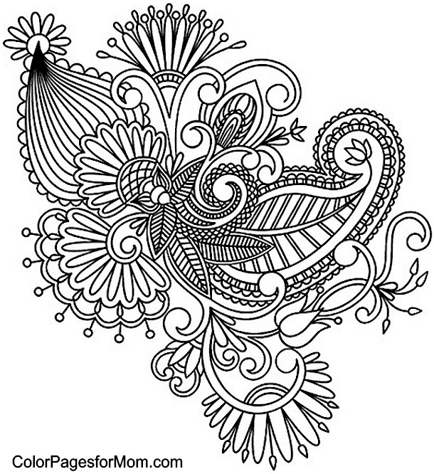 Nifty image intended for printable adult coloring pages paisley