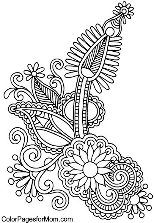 Paisley free colouring pages for Paisley print coloring pages