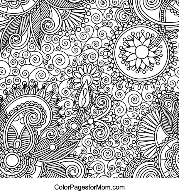 paisley print coloring pages - paisley 12 coloring page