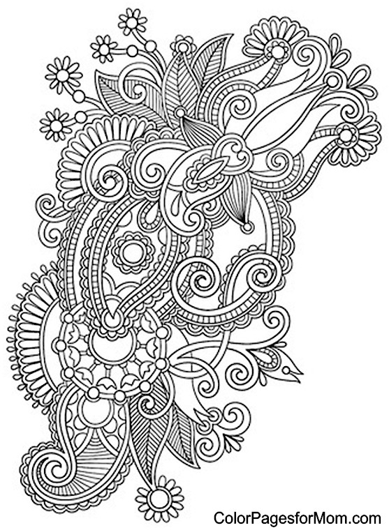 paisley coloring pages peace - photo#19