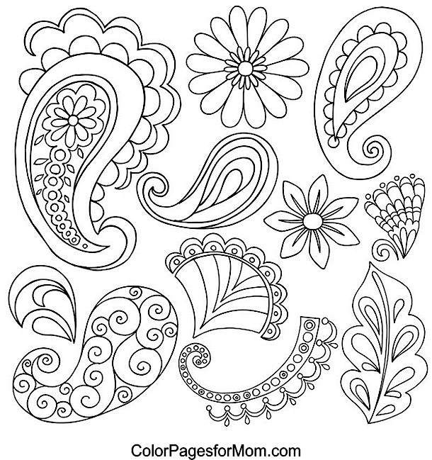 paisley coloring pages Paisley Coloring Page paisley coloring pages