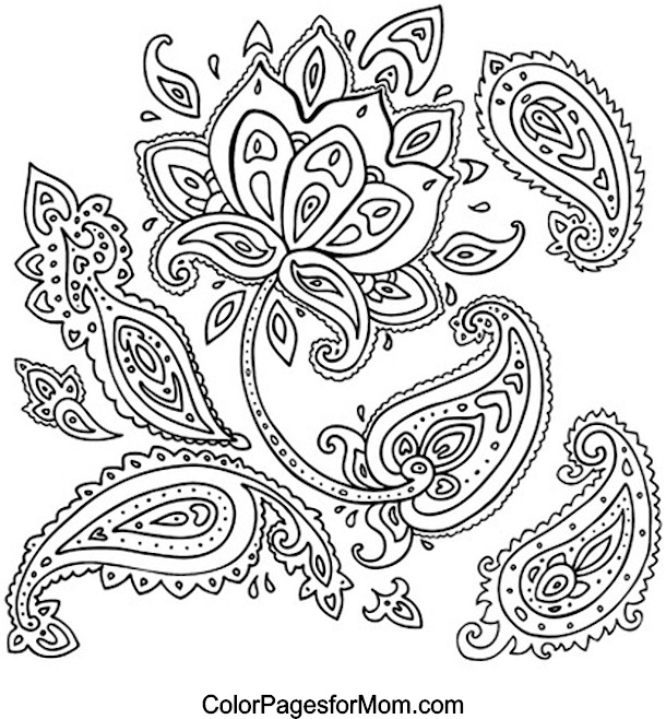 paisley coloring page 25
