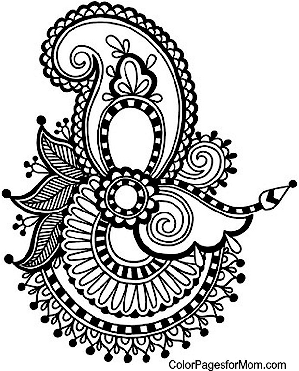 Resource image pertaining to printable adult coloring pages paisley