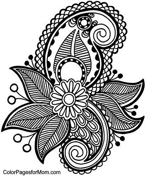 Unusual image throughout paisley printable coloring pages