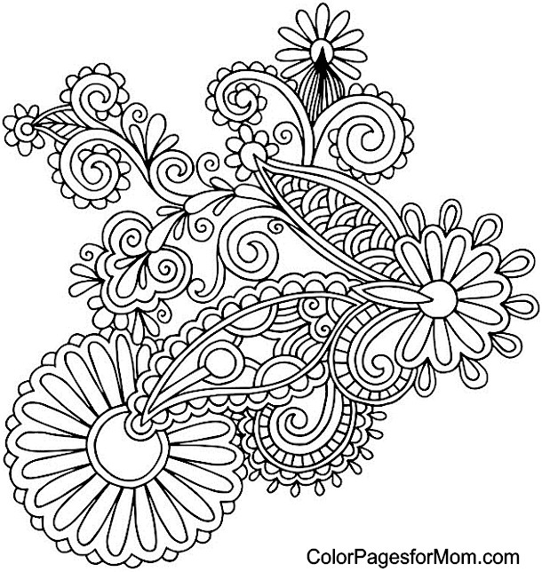 paisley coloring pages peace - photo#5