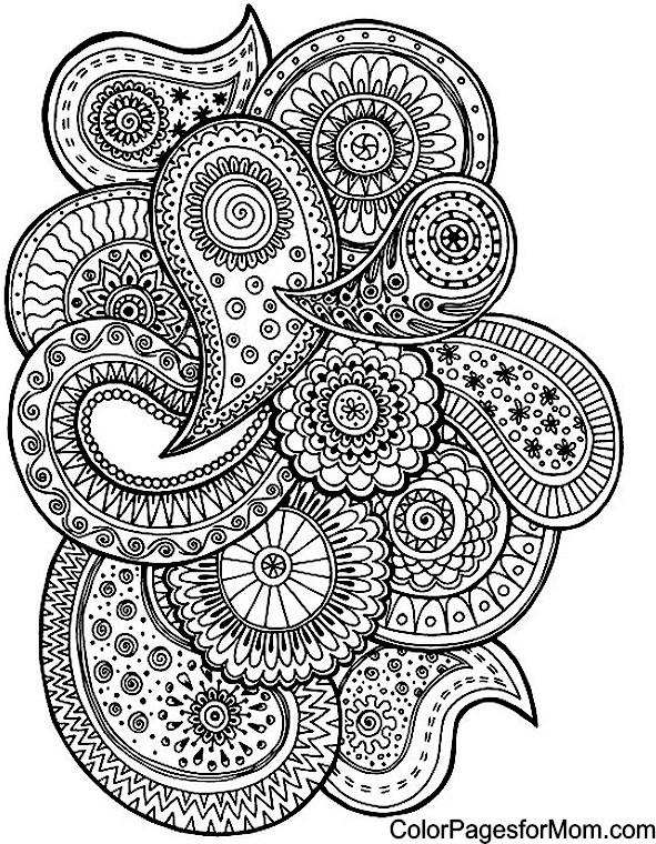 paisley coloring page 57