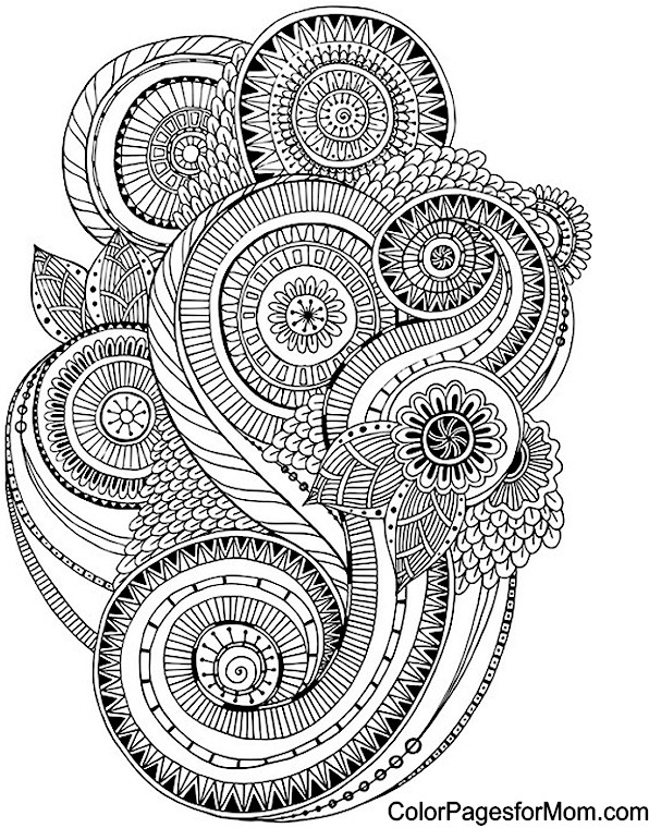 Paisley coloring page for Paisley designs coloring pages