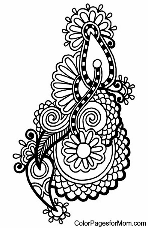 Clever image intended for paisley printable coloring pages