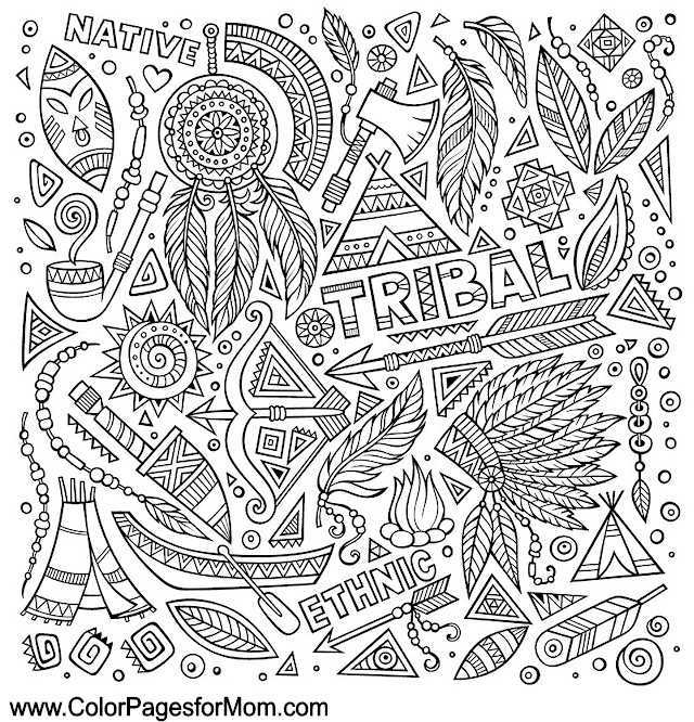 Southwestern native american coloring page 15 for Native american printable coloring pages