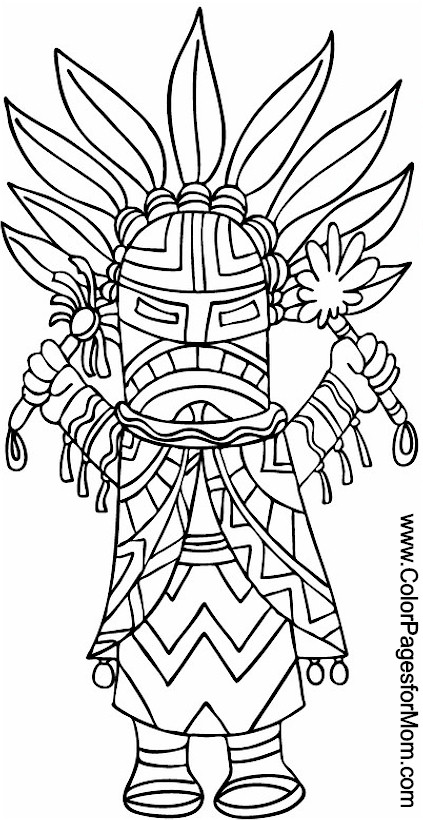 adult coloring pages native american - photo#24