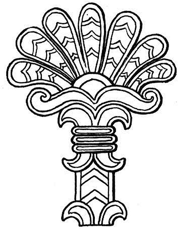 Southwestern native american coloring page for Native american symbols coloring pages