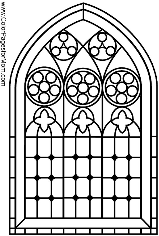 Coloring Pages For Adults Stained Glass Coloring Page 10