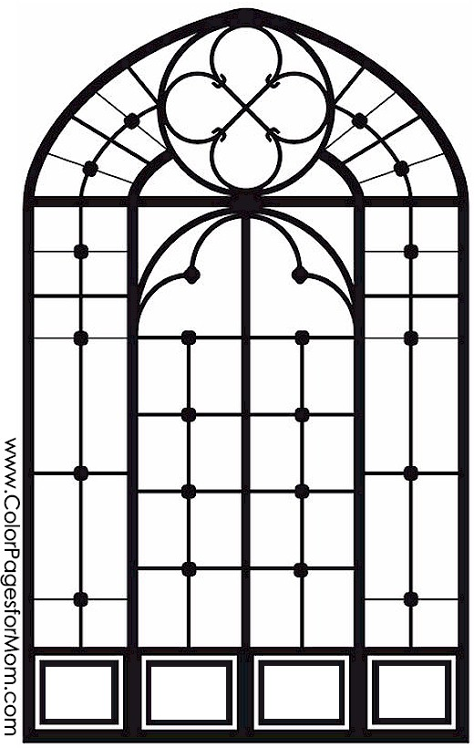 Adult Coloring Pages Stained Glass Coloring Page 25