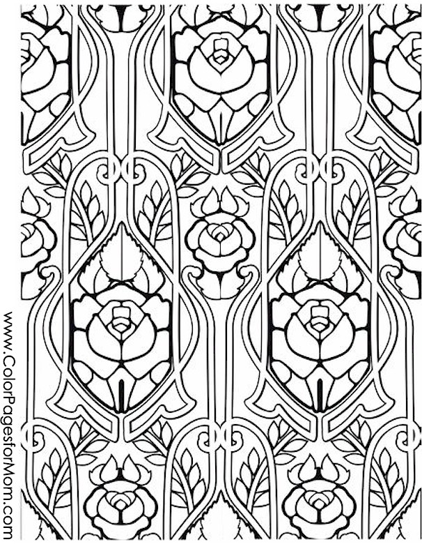 Coloring pages for adults stained glass coloring page 26 for Stained glass coloring pages for adults