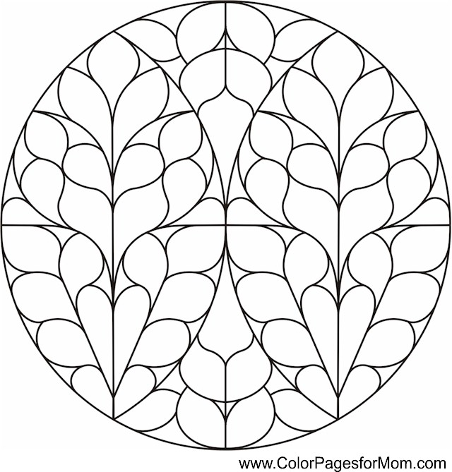 Coloring pages for adults stained glass coloring page 5 for Stained glass coloring pages for adults