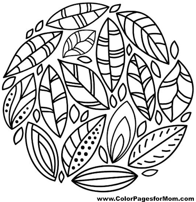 Thanksgiving Coloring Pages Advanced : Advanced coloring pages leaves