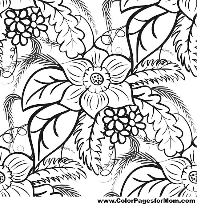 leaf coloring pages for adults - photo#26