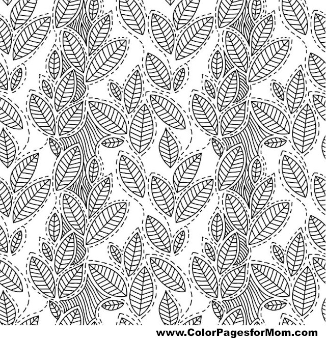 Coloring Pages For Advanced Colors : Advanced coloring pages leaves