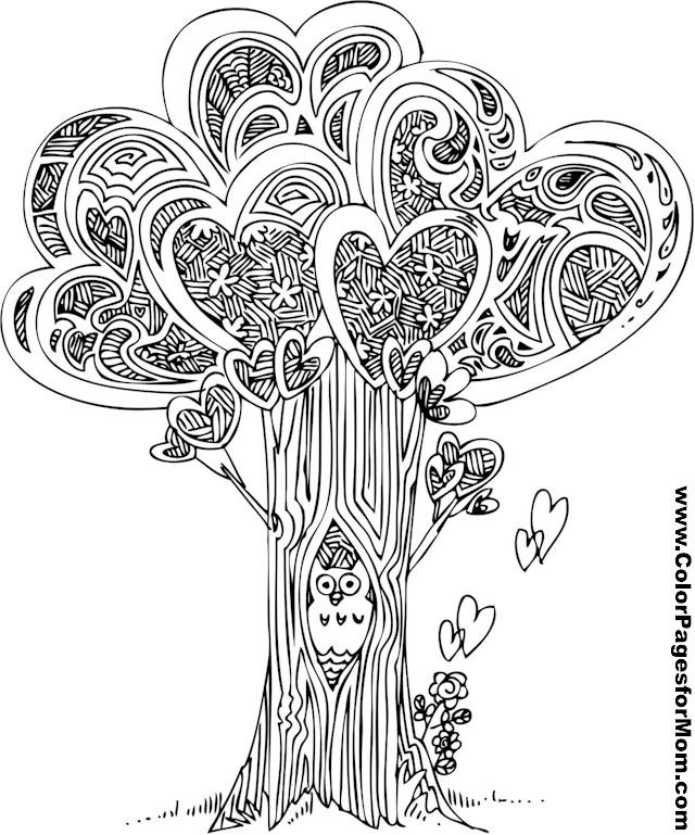 tree mandala coloring pages - photo#34