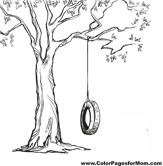 Coloring Pages For Adults Trees : Advanced coloring pages tree