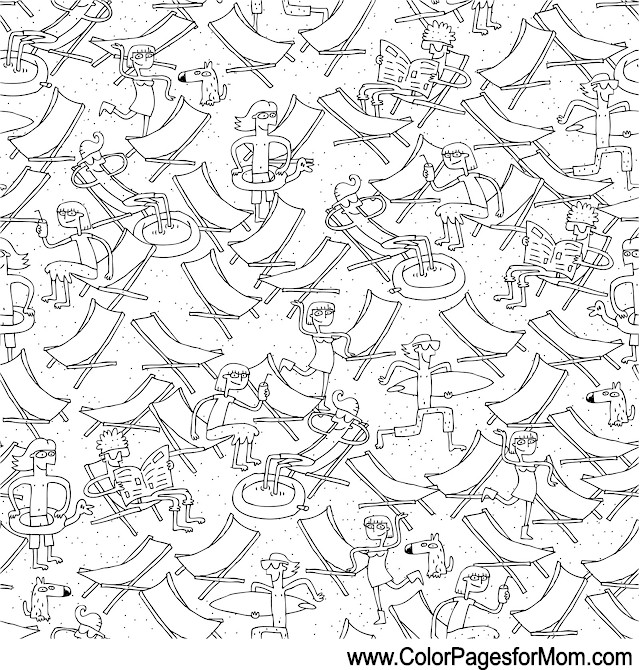 Vacation Coloring Page 3
