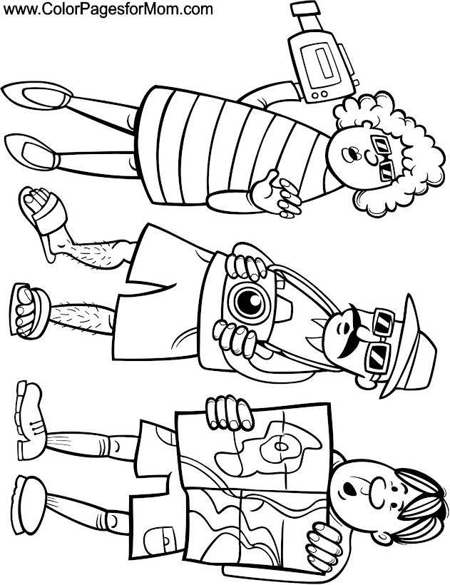 Summer Vacation Coloring Pages Vacation Coloring Page
