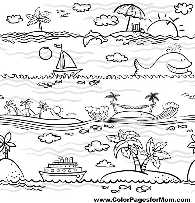 coloring pages vacation - photo#36