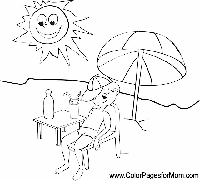 Vacation Coloring Page 5 Vacation Coloring Page