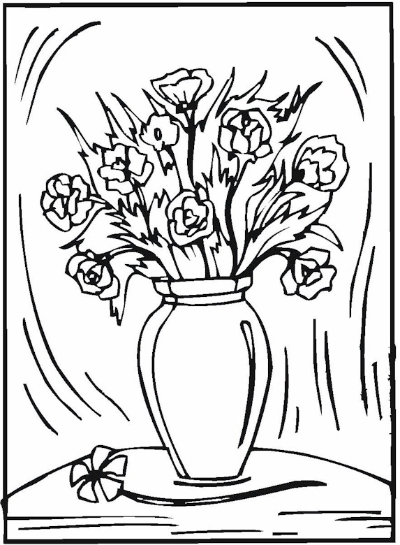vases with flowers coloring pages - photo#21