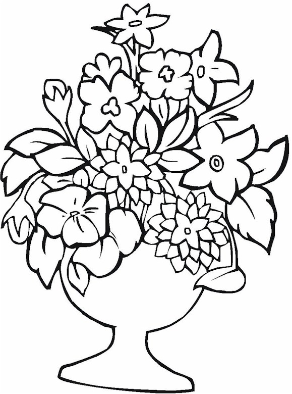 flower vase coloring page. Vase 20 Coloring Page Click to Print Image Only Without Ads  Pottery