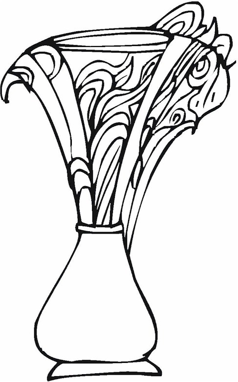 v is for vase coloring pages - photo #20