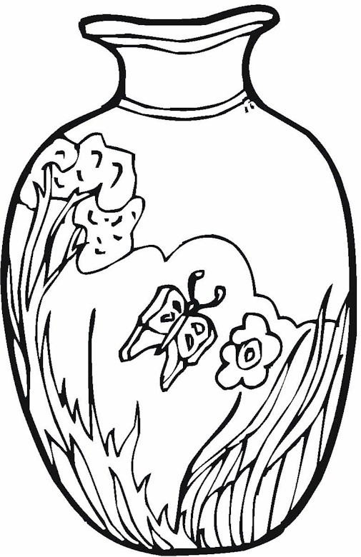 v is for vase coloring pages - photo #48