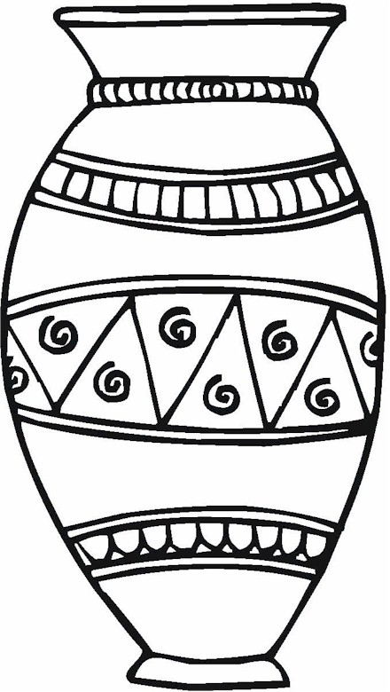 v is for vase coloring pages - photo #41