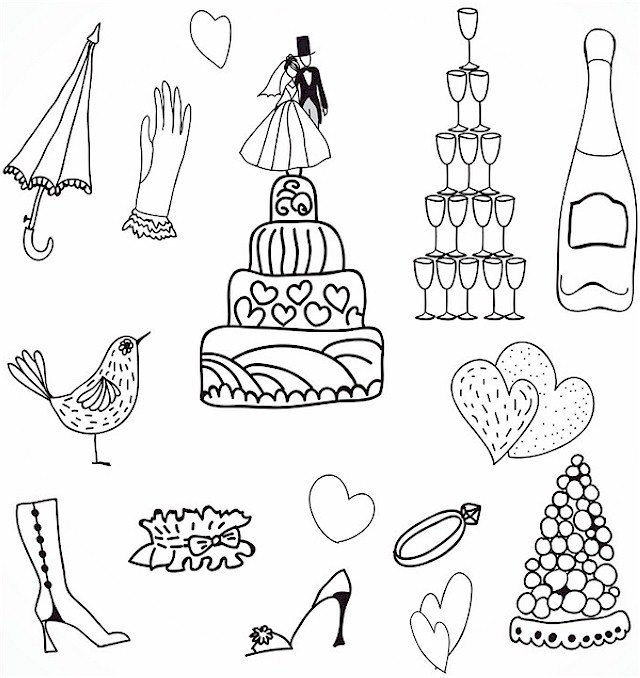 wedding coloring page 1