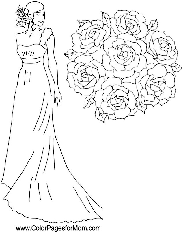 wedding coloring page 10