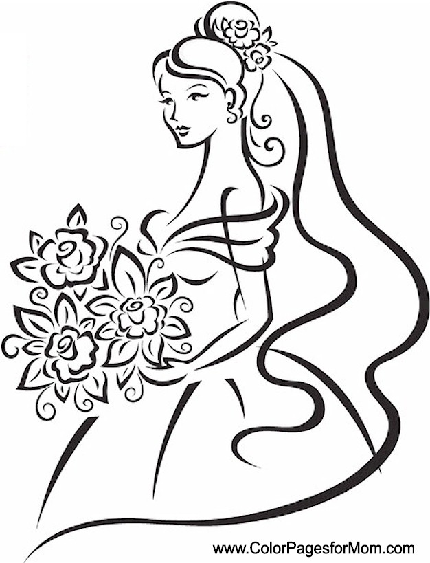 wedding coloring page 11