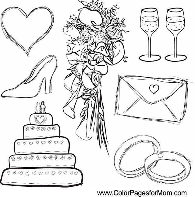 I Do Wedding Printable Coloring Pages Coloring Pages Wedding Color Pages