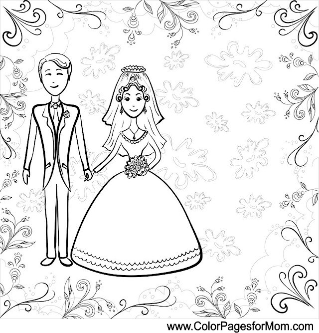 wedding coloring page 3