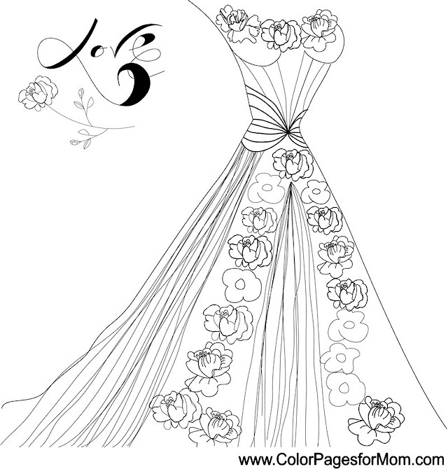 wedding coloring page 30