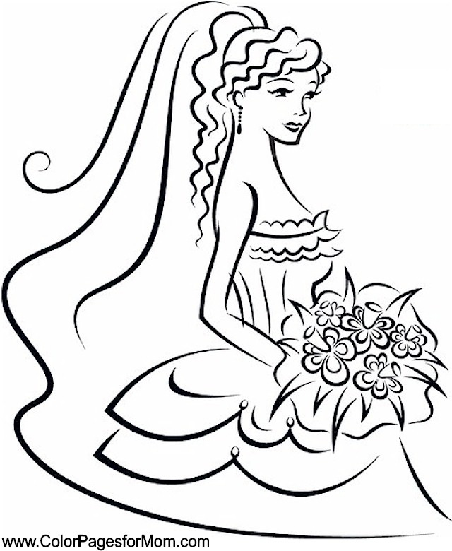 wedding coloring page 33